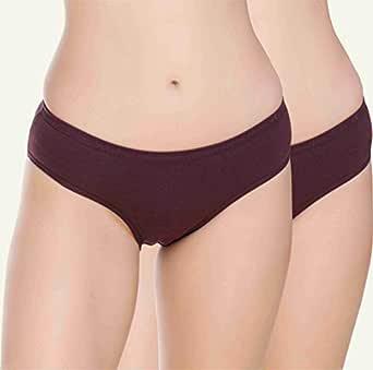 Feminia Pack of 2 Lycra Long Lasting Comfortrich Women Panty