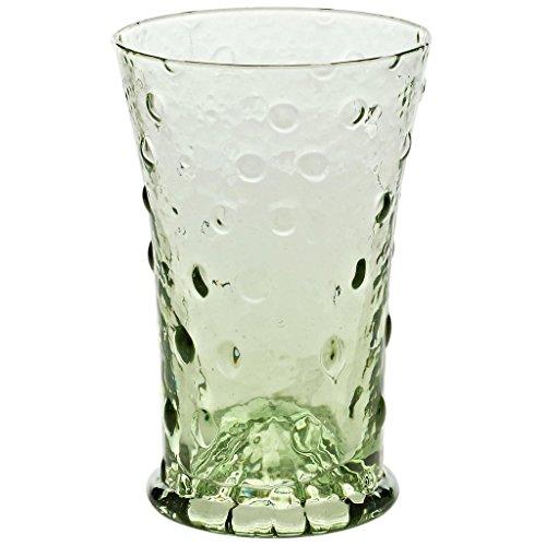 Becher, Wasserglas, Biedermeier Trinkglas WALDGLAS grün, 300 ml, H=14,5cm, traditioneller...