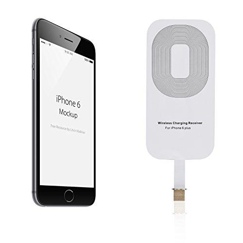 iProtect 2in1-Set Qi-kompatible induktive Schutzhülle gold-weiß und Qi-Ladestation weiß glänzend für Apple iPhone 5 5s Ricevitore Qi Adattatore IP6+