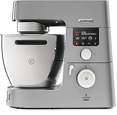 Kenwood Cooking Chef Gourmet KCC9060S Küchenmaschine, 1.500 W, Induktion 20-180°C, 6,7 l Füllmenge, 1,6 l ThermoResist Glas-Mixaufsatz, 1,2 l (Multi Chef)