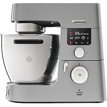 Kenwood Cooking Chef Gourmet KCC9060S Küchenmaschine (1500 W, Induktion 20-180°C, 6,7 l Füllmenge, 1,6 L ThermoResist Glas-Mixaufsatz, 1,2 L Multi-Zerkleinerer)