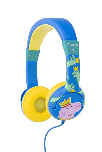 Peppa Pig Headphones for Children George Pig Design Best Price and Cheapest