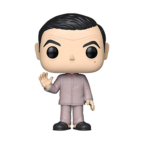 Funko- Pop Figura de Vinilo: TV Mr Bean Pajamas w/Teddy Bear Chase...