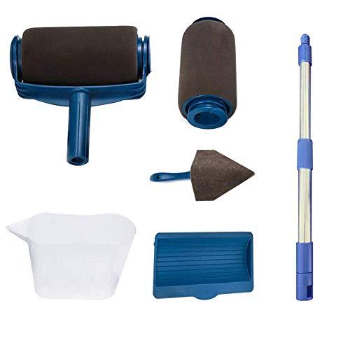 rullo per pittura,kit di 6 pittura professionale per pittura,pennello rullo di vernice set,utilizzato per la verniciatura di giardini e il rinnovamento di ambienti