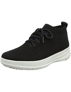 FitFlop Damen Uberknit Slip-On High Top Sneaker Hohe, Schwarz, One Size