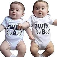 Sunbona (TM) Baby Romper Newborn Infant Baby Boys Girls Short Sleeve Bodysuit Twins Romper Clothes