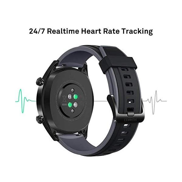 Huawei Watch GT Sport - Reloj (TruSleep, GPS, monitoreo del ritmo cardiaco), Negro 4