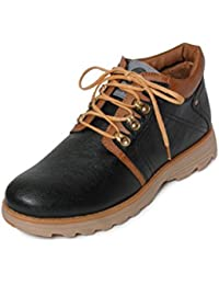 Bacca Bucci Men Black Synthetic Leather Boots