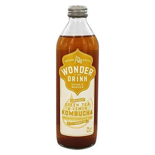 Kombucha Wonder Drink - Botella de té fermentado espumoso orgánico con...
