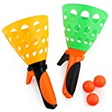 Underleaf Couleur badminton Modeling Catapult lancement Butt balle jouets pour enfants et lancement Catch balle Toy