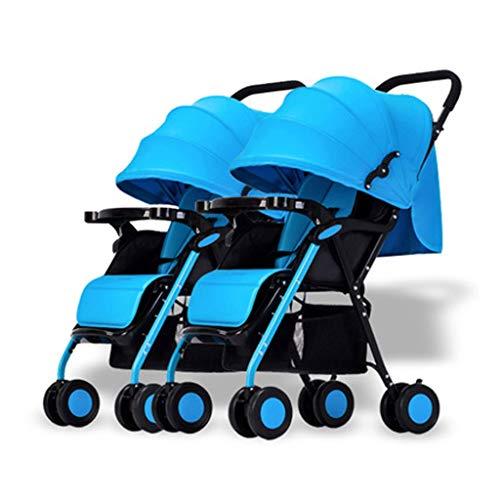 Xiaoping passeggino gemellare passeggino staccabile rilassante carrello doppio pieghevole leggero a doppio senso (colore: 3) ( color : 1 )