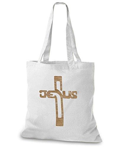 StyloBags Jutebeutel / Tasche Jesus Natur