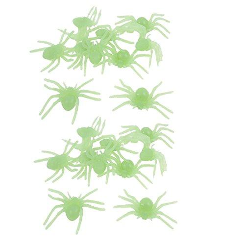 DealMux 2 Taschen Schlafzimmer Wand-Tür-Spinne Geformt fluoreszierende Aufkleber Grün -