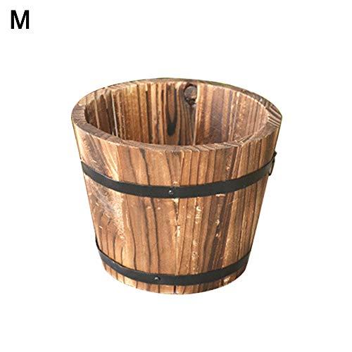 little finger Rustikaler Sukkulenten-Übertopf aus Holz, leer Blumentopf Behälter, Gartendekoration, Holz, Random Style, m