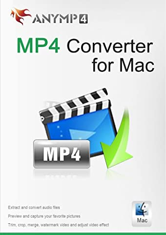 AnyMP4 MP4 Converter for Mac Lifetime License - Convert DVD or any video like FLV, AVI, MKV, WMV, TS, MOV, M2TS, and more to/from MP4 on Mac