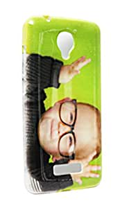 ECellStreet Silicon Soft Back Case Cover Back Cover For Micromax Canvas Spark Q380 - Little Boy