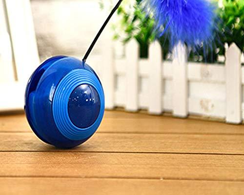 GOYOO Pfeifen Le Flash Roller Becher elektrisch Spielzeug für Haustiere,Blue