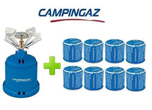 ALTIGASI Réchaud à gaz Camping 206 S Stove Camping Puissance 1,230 W - Poids 280 grammes + 8 pièces Cartouche C206 GLS de 190 grammes