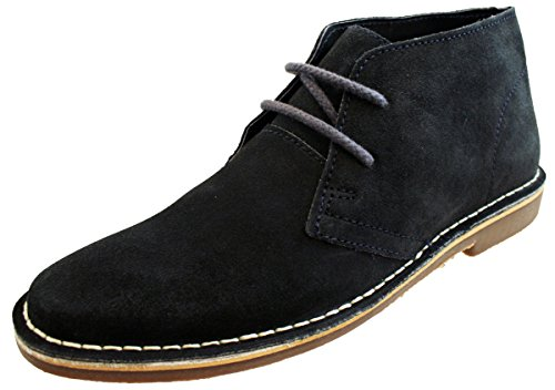Red Tape Gobi Mens Genuine Suede Lace Up Casual Desert Boots Navy...
