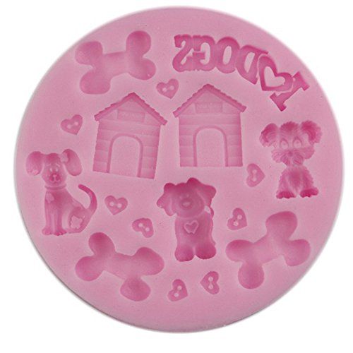 SaySure - Baked soft silicone pet dog house double sugar mould cake