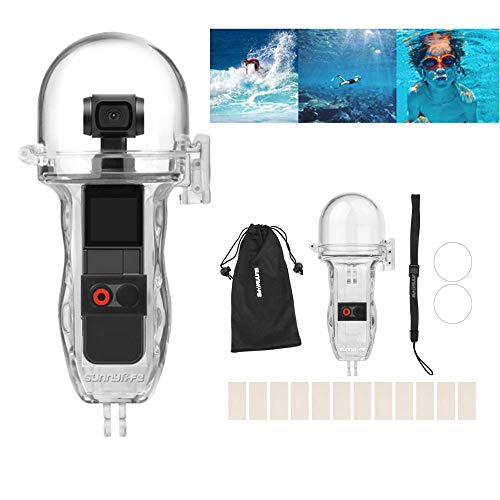 Linghuang 60M Domed Dive Housing kompatibel mit DJI Osmo Pocket Wasserdichtem Gehäuse Hand Griffge Case - Transparente Tauch Abdeckung Fotografie