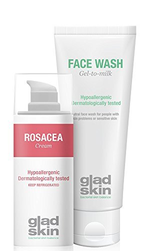 Glad Skin Rosacea Cream 30 ml y Face Wash 75 ml Cleansing Set (nevera...