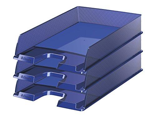 Esselte Europost - Portacorrispondenza, formato A4, set da 10 Blu scuro traslucido