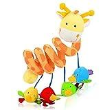 ELENKER Giraffe Baby Spirale Plüschtiere Spielzeug für Babyschale Kinderwagen