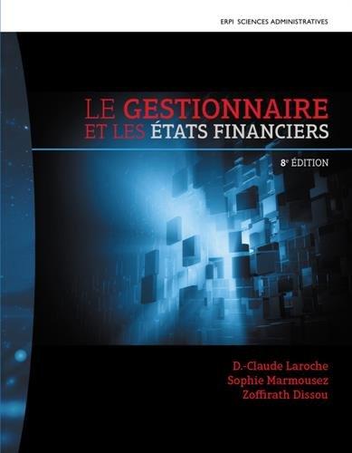 Le gestionnaire et les états financiers