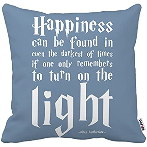 Kenneth diseño Felicidad Harry Potter cita único lujo Impresión Square Funda de almohada de 18x 18pulgadas (One