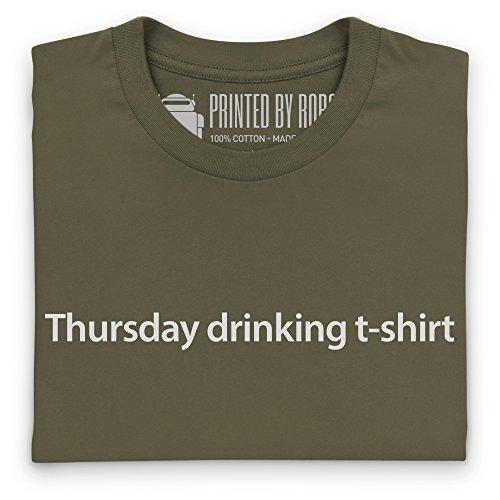 Thursday Drinking T-Shirt, Damen Olivgrn