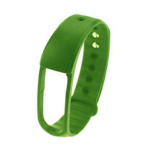 COOSA Ersatzband , Silikon Armband, Ergonomisches Design für ID101( kein Tracker) (grün Ersatzband)