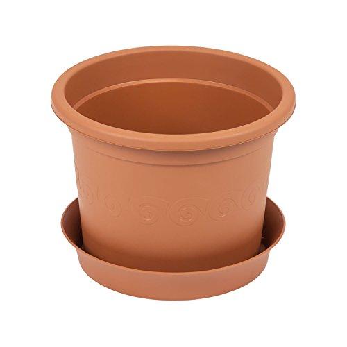 Pot de fleur Plastica cache pot boîte avec soucoup, 6.5 Ltr