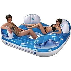 Wehncke 13107 Wave - Isla hinchable flotante con 4 asientos 202x202x60 cm