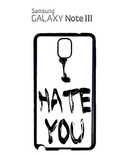 I Hate You Smiley Face Mobile Cell Phone Case Samsung Galaxy S5 Black Blanc