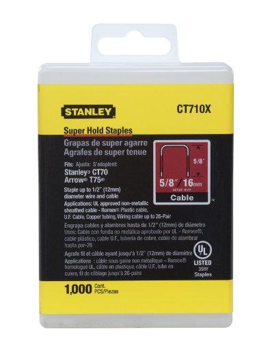 """Stanley CT710 x Large Super une couronne Electrician'S agrafes 5/8, longueur 1/2""""-Couronne-Lot de 1000"""