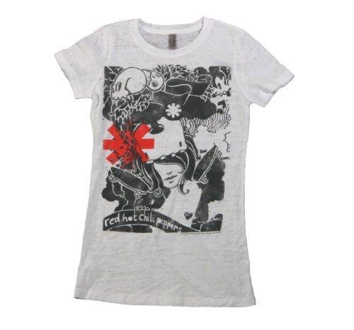 Red Hot Chili Peppers - Da donna Dani's Dream Juniors T-shirt Small Bianco