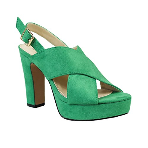 Buonarotti , Sandales pour femme Vert
