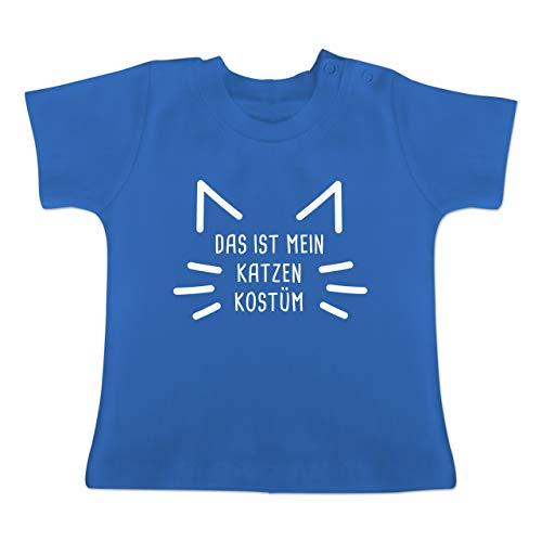 Karneval und Fasching Baby - Das ist Mein Katzen Kostüm - 18-24 Monate - Royalblau - BZ02 - Baby T-Shirt Kurzarm