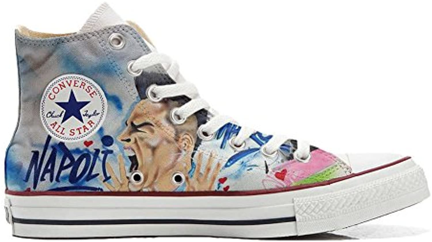 Mixte All Artisanal Adulte Chaussures Hi Converse Coutume Star YqzX8F