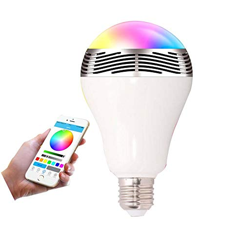 Drahtloser Bluetooth-Lautsprecher Smart LED Bulb - E27 RGB Dimmbare Musiklautsprecher-Lampe Für IPhone IOS, Android Smartphone - Kostenlose APP-Steuerung (3PCS)
