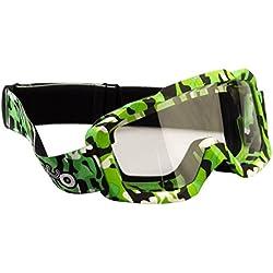 Viper moto accesorios X2Pro gafas de camuflaje, color negro/verde, tamaño One