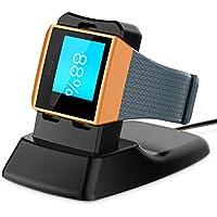Fitbit Ionic Chargeur, Basstop Accessoires de station d'accueil de charge sans fil Support de support de berceau de support de Stand pour la montre futée ionique de Fitbit – Noir