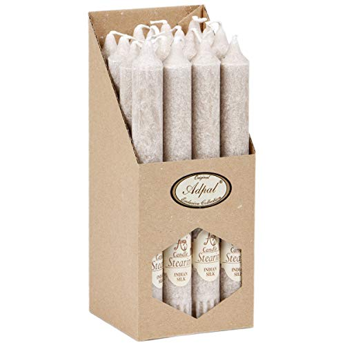 Stabkerzen 16 Stück Duftkerzen indische Seide 21 cm hoch Tafelkerzen Aromakerzen