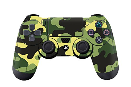 Camouflage-Vinyle-Decal-Sticker-Skin-Autocollant-pour-Le-Manette-x-2-Army-Green