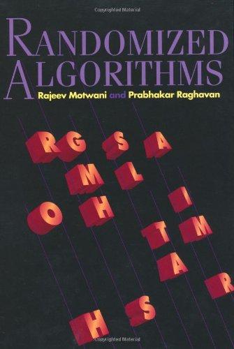 Randomized Algorithms Hardback (Cambridge International Series on Parallel Computation)