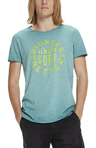 Scotch & Soda Herren T-Shirts Tee in Jersey Quality with Retro Artwork, Blau (Surf Blue Melange 1292), Medium (Soda Retro)