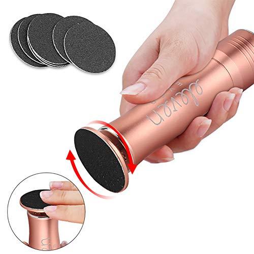 QIYE Tragbare elektrische Fußfeile Fußpolierer, Elektrischer Fußpolierer, Professionelle Pediküre-Tools Fuß Datei, für Frauen/Männer Dicke Hornhaut -
