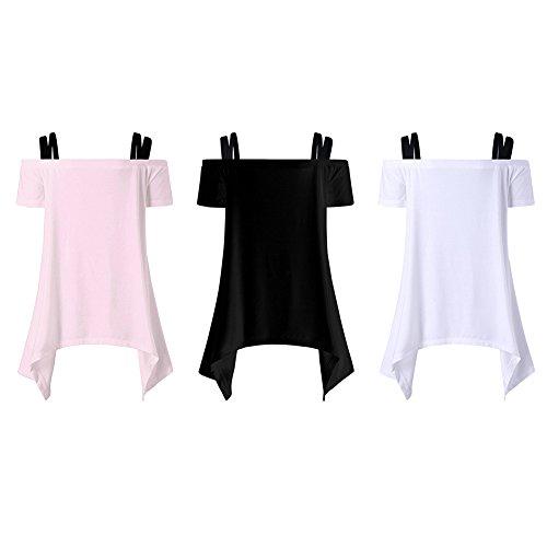 iBaste Chemise de Harnais Sans Collier Femme Blanc