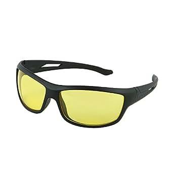 Discount4product Rectangular Unisex Driving Sunglasses (Yellow)